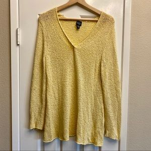 Eileen Fisher canary yellow sweater